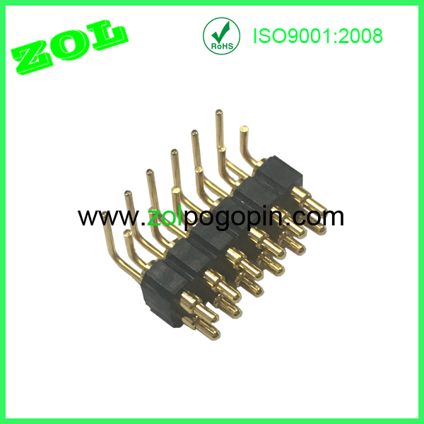 ZOL Pogo PIn  2.54 pitch right angle 2x6 pins pogo pin male connectors