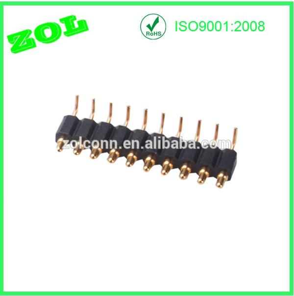 2.54 mm pitch 9 pins pogo pin right angle connector
